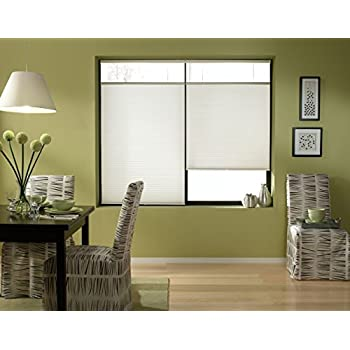 Cordless Top Down Bottom Up Cellular Honeycomb Shades, 22W x 36H, White, Any Size 19-72 Wide