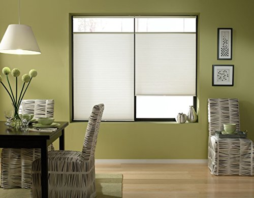 Windowsandgarden Cordless Top Down Bottom Up Cellular Honeycomb Shades, 70W x 47H, White, Any Size...