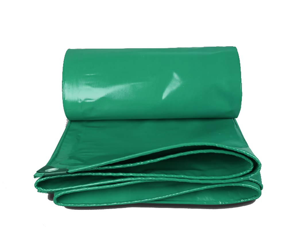 Im Freien Outdoor-Plane Multi-Purpose wasserdicht verstärkt Ripstop mit Knopfloch grün (Farbe   A, größe   4x7m)