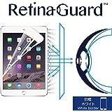 RetinaGuard Anti-Blue Light Screen Protector for iPad Air 2 (White Border) Compatible with 2018 iPad /2017 iPad/iPad Pro 9.7 - SGS & Intertek Tested - Blocks Harmful Blue Light