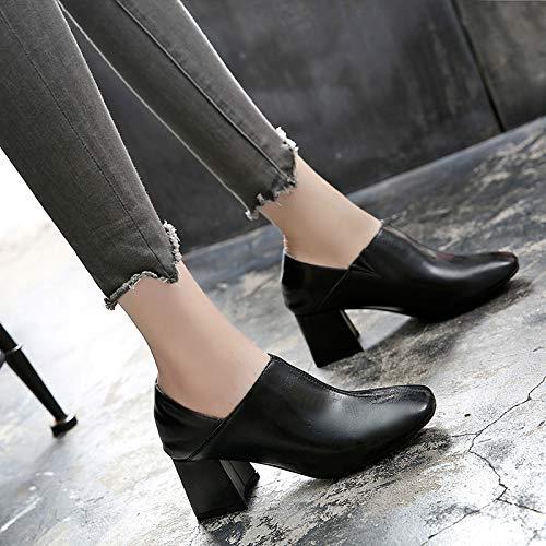 Lacets Femmes Pour À Avec Chaussures Hauts Petites Mode Automne Fraîches Yukun Filles La Simples Black Talons qXgIwxH6