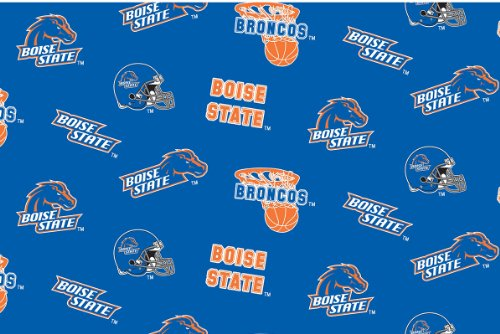 - Boise State Fleece Fabric - Sold By the Yard