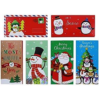 Amazon.com: Set of 12 Christmas Money Card Holders ...