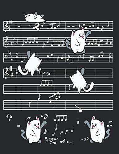 - Blank Music Sheet Notebook: Kids Music Manuscript Paper Tablature Tab Paper Cute Cat Journal Notebook - Composing & Writing Piano Pianist Music Sheet, ... Paper Records, Chord Book, 8.5 x 11