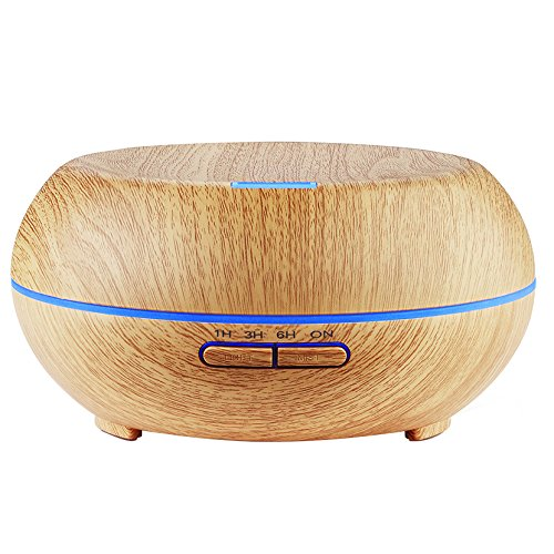 amir-wood-grain-200ml-essential-oil-diffuser-electric-cool-mist-aroma-humidifier-4-timer-settings-7-