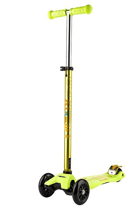 Micro Maxi Deluxe, Patinete 3 Ruedas, 5-12 Años, Carga Máx 70kg, Peso 2,5kg (Amarillo)