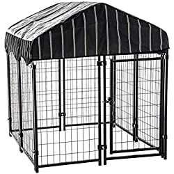 """Lucky Dog 4'6""""H x 4'L x 4'W Heavy Duty Covered Welded Wire Dog Fence Pet Kennel"""