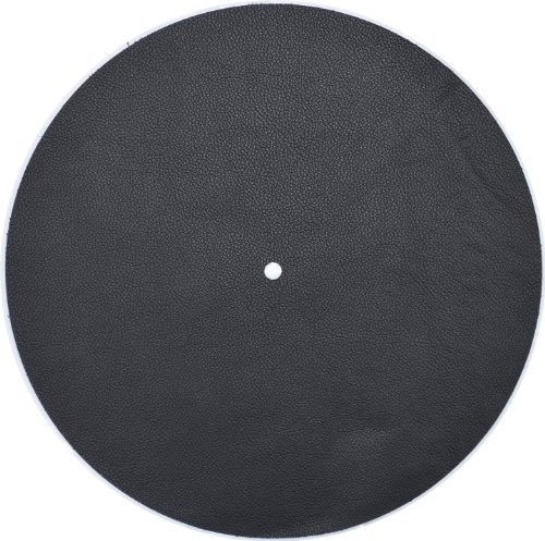 Genuine Leather Turntable Platter Mat - Black (Turntable Leather Mat compare prices)