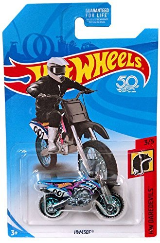 Hot Wheels 2018 50th Anniversary HW Daredevils HW450F (Dirt Bike), Blue ()