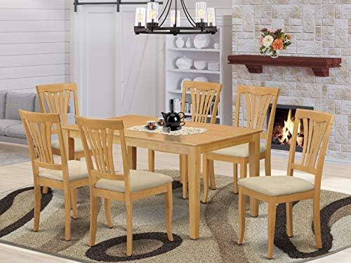 Editors' Choice: East West Furniture CAAV7-OAK-C Dining Room Table Set 7 Pieces