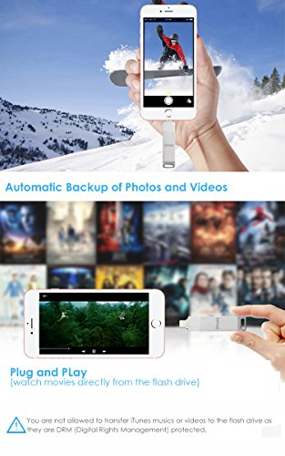 iDiskk iPhone Flash Drive 256GB ipad External Storage Photo Stick for iPhone X XR XS Max and New ipad pro pc MacBook Jump Drive with Touch id encryption (2 Years Warranty) by iDiskk (Image #2)