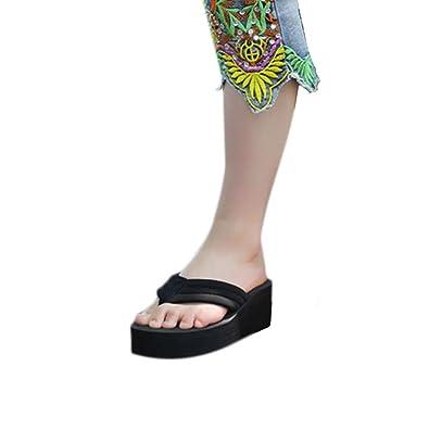 Fulltime(TM) Women Wedge Heel Beach Slippers Sandal Platform Wedges Flip  Flops