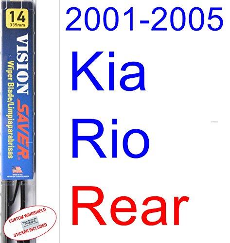 Amazon.com: 2001-2005 Kia Rio Replacement Wiper Blade Set/Kit (Set of 2 Blades) (Saver Automotive Products-Vision Saver) (2002,2003,2004): Automotive