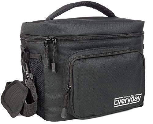 Large Insulated Lunch Bag for Men | Lunch Bags for Men | Lunchbox Adult | Cooler Bags Insulated | Adult Lunch Box by Everyday Supply Co | Non-Toxic Stain Resistant Nylon | 10 x 7.5 x 9 Inches Black