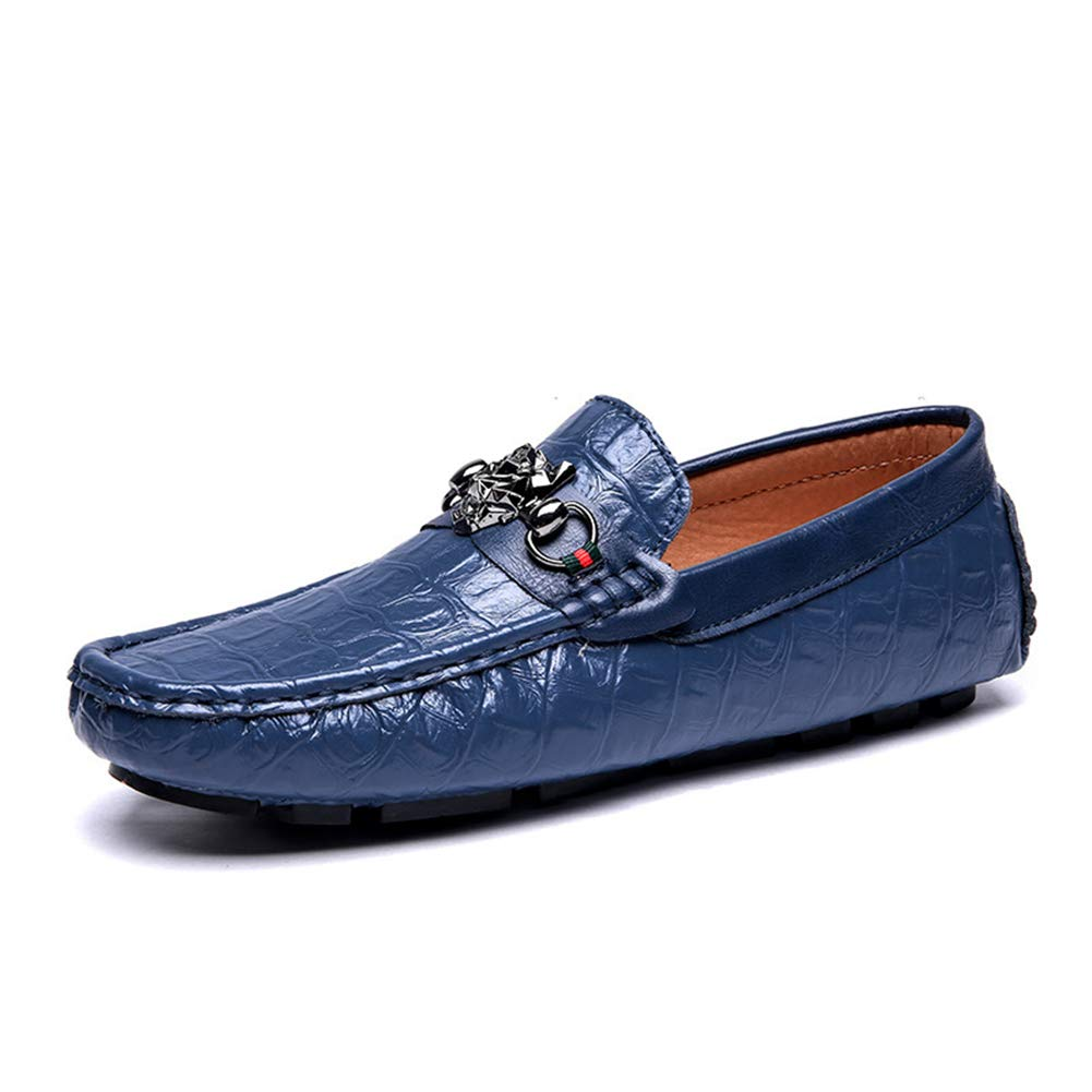 C Men'S shoes, Fashion Spring Summer Style Soft Moccasins Man Loafers Leather shoes Men Flats Driving shoes Beanie shoes,c,41