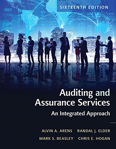 134065824 - Auditing and Assurance Services (16th Edition)
