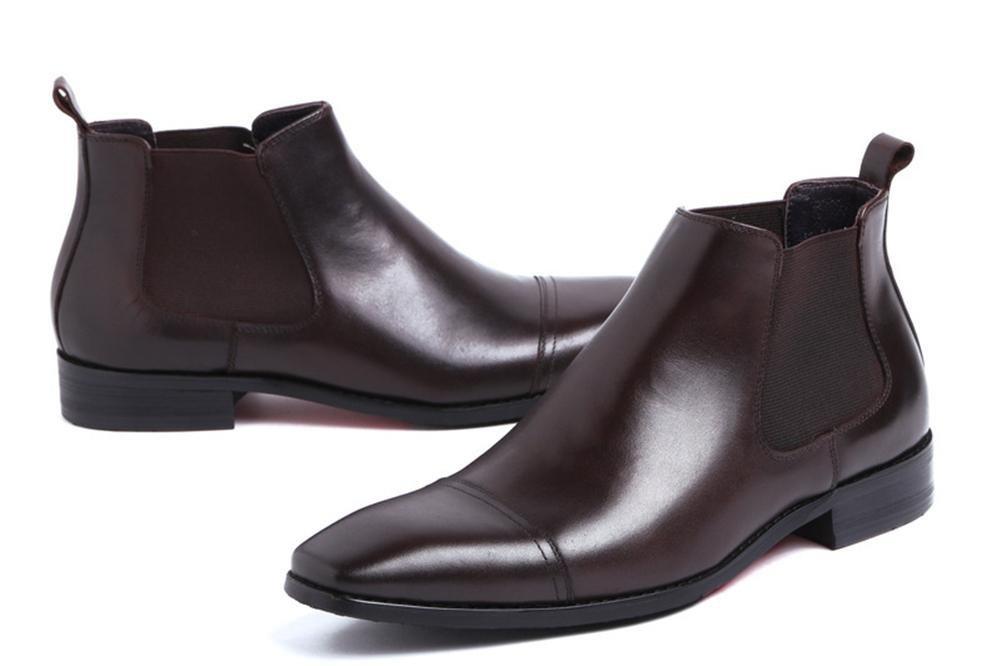 XIE Winter Männer Geschäft Leder Echt Leder Geschäft Formal Stiefel Kleid Beiläufig Schwarz Halbschuhe Herbst Größe 37-44 3cc9d3