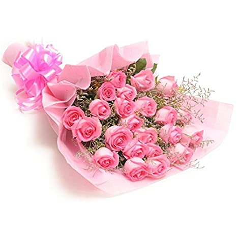 Florazone Fresh Flowers Sweet Pink Bouquet Bunch Of Pink Roses