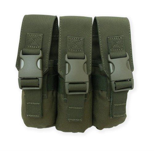 Tacprogear Triple Flashbang Pouch, Olive Drab Green Flashbang Grenade