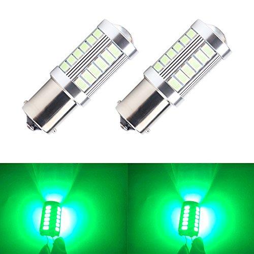 - OSC Green Bright LED Bulbs Brake Stop Parking Tail light 1156 1141 5730 33-SMD BA15S 900 Lumens 8000K Turn Signal Bulbs Side Markers Lamp DC 12V 3.6W 2pcs