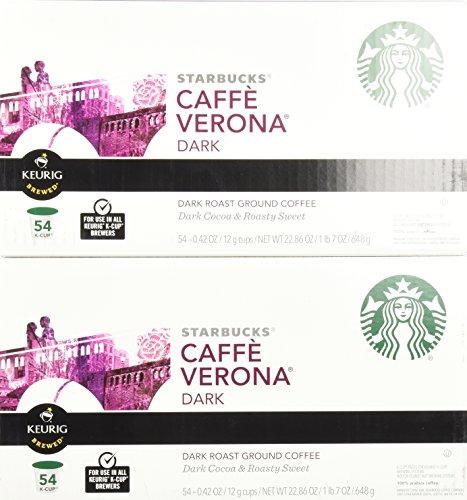 Starbucks Caffè Verona, Dark Roast, 108-Count K-Cups for Keurig Brewers by Starbucks (Image #1)