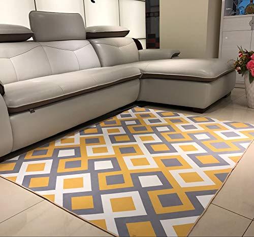 Alfombra Diseño Pelo Corto Salón, Alfombras Marroquíes de patrón nórdico Lavado hogar Antideslizante Alfombra,Mesa de...