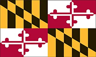 product image for Valley Forge Flag 2-Foot by 3-Foot Nylon Maryland State Flag with Canvas Header and Grommets