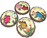 Stepping Stone says Welcome with Bird and Flower (SET OF 4)