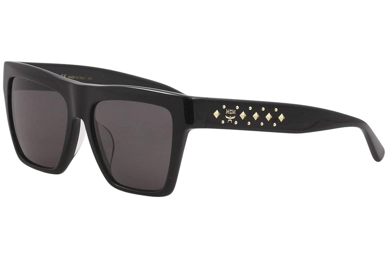 05b0c8f12e9c Amazon.com: MCM Women's MCM601SA MCM/601/SA 001 Black Fashion Square  Sunglasses 55mm: Clothing