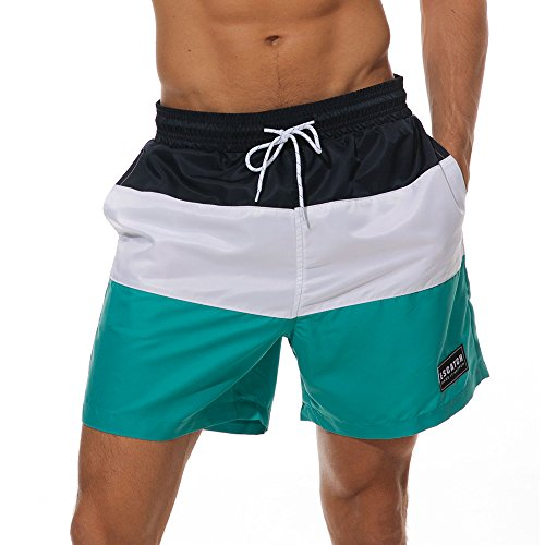 XX-Large White Mens Swim Trunk Quick Dry Swim Trunks With Porkets Beach Board Shorts White Pants Swimwear