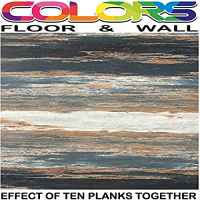 COLORS Vintage Painted Aged Old Black Smoke Wood Restored Style Dry Back Glue Down Textured Luxury Vinyl Floor Plank 6 in. x 36 in. (45 sq. ft. / case)