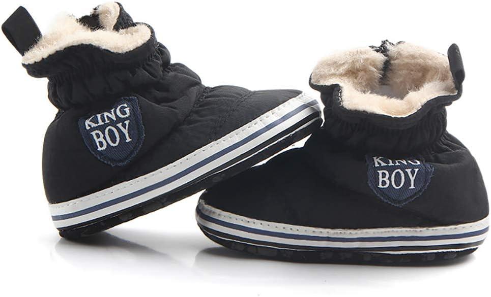 Chaussures b/éb/é d/écontract/é Tukistore B/éb/é gar/çons Chaussures de Course Doublure en Peluche Chaussures Prewalker Hiver Chaud Semelle Souple Berceau Chaussure Bottes pour Enfant Gar/çons Filles