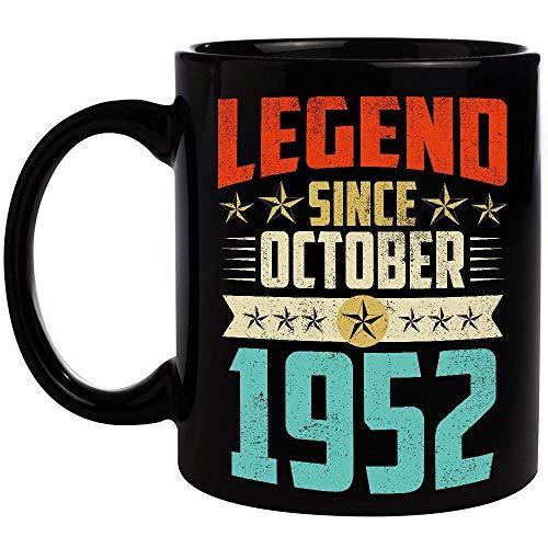 Legend Born October 1952 Birthday Gifts Mug 67 Years Old 67th Birthday Gifts Coffee Mug Funny 11oz Cup For Grandma Grandpa Mom Dad Women Men