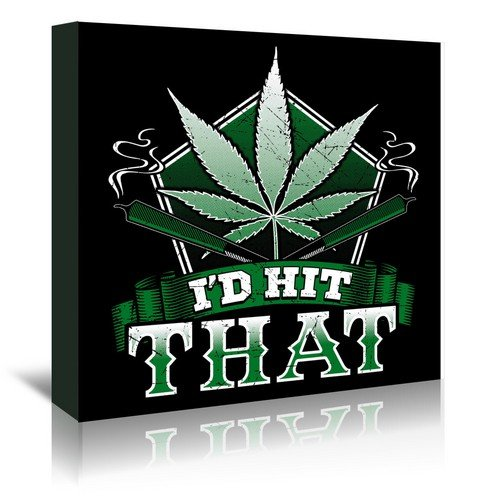 Americanflat Legalize Marijuana Gallery Wrapped Canvas by Wonderful Dream, 16