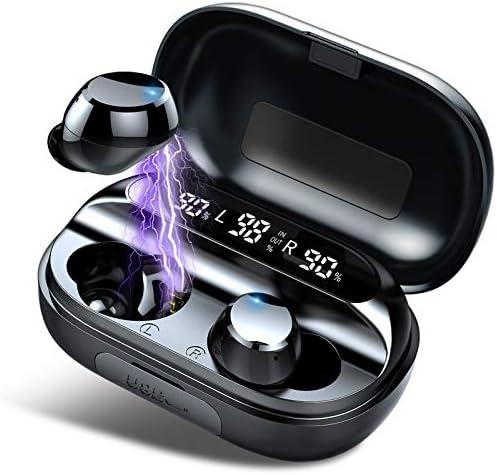 [2020 Ultimo Modello] Cuffie Bluetooth 5.0 Auricolari Bluetooth Senza Fili, 150H Ore, CVC 8.0, Cuffie Wireless Sport in Ear con Display LED e Touch Control, IPX7 Impermeabile, Custodia Di Ricarica
