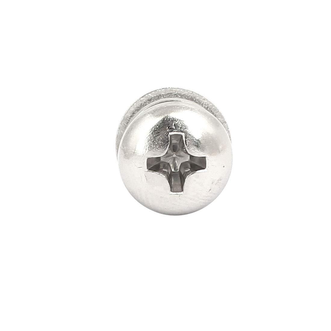 20Sets Silber M4x40mm 304 Edelstahl Linsenkopfschraube Mutter mit Unterlegscheibe