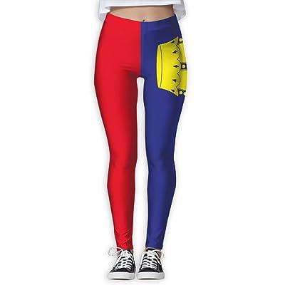 MOCSTONE Liechtenstein Flag Workout Yoga Pants Stretchy Leggings For Women