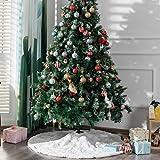 Kederwa 48 Inches Christmas Tree Skirt, Plush