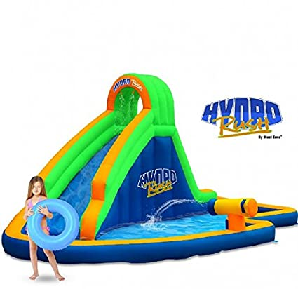 df2b9c3a3d8cf3 Amazon.com  Blast Zone Hydro Rush Inflatable Water Park  Toys   Games