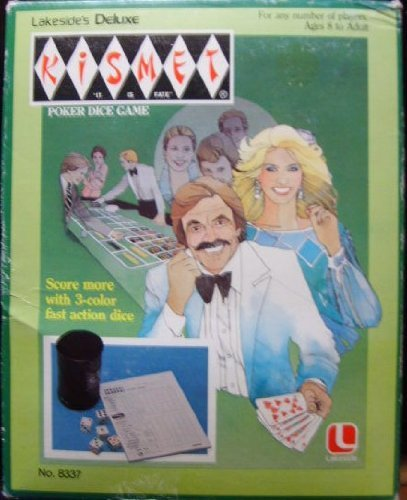 Deluxe Kismet Poker Dice Game 1982 Lakeside Version by Leisure Dynamics, Inc