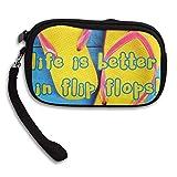 CMTRFJ Unisex Wallet for Woman Ladies -Life is Better in Flip Flops Purse Bag Men Gentlemen