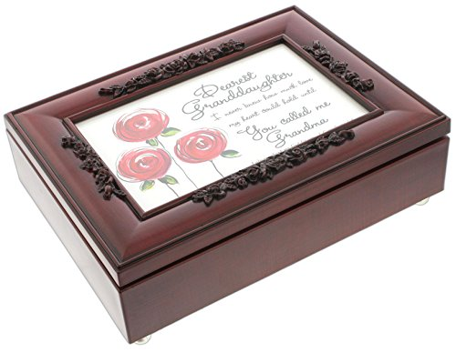 Cottage Garden Rosewood Music Box with Poem Insert