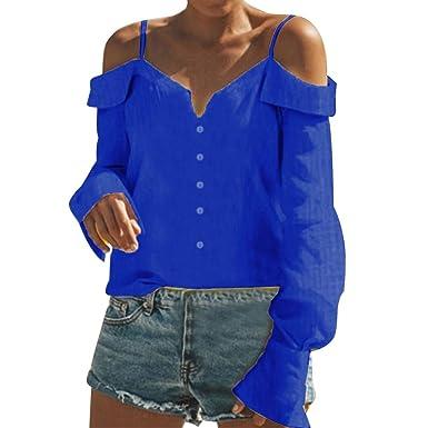 ce5270305068 OSYARD Damen Kleider Schulterfreies Oberteil V-Ausschnitt Herbst Bluse,  Frauen Aus Der Schulter V