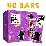 Gluten Free Granola Breakfast Bar, Kids Snacks Chocolate Chip by This Bar Saves Lives, 1.1 oz, 40 bars