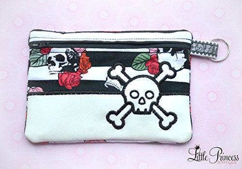 Skull Bag, Cosmetic Bag, Makeup Bag, Toiletry Bag by Little Princess Bowtique