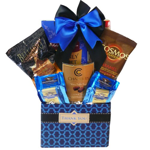 Thank You – Desk Caddy of Coffee and Treats – Gourmet Food Gift Basket
