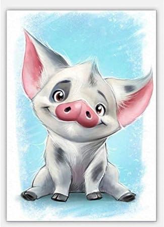 Zuanshige Broderie Peinture Au Diamant Cochon Dessin