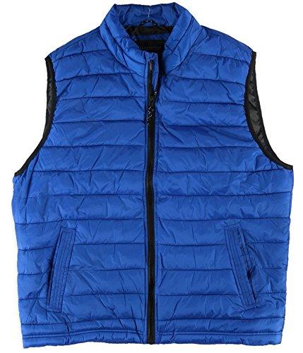 Aeropostale Mens Full Zip Puffer Vest, Blue, Small (Men Aeropostale Vest)