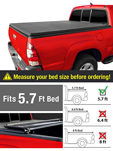 MaxMate Soft Tri-Fold Truck Bed Tonneau Cover for 2019 Ram 1500 New Body Style Without Ram Box | Fleetside 5.7' Bed