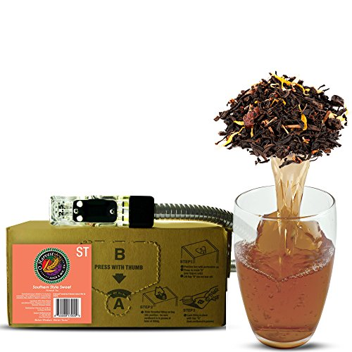 Southern Style Craft Sweet Tea (3 Gallon Bag-in-Box Syrup Concentrate) - Box Pours 18 Gallons of Sweet Tea - Use with Bar Gun, Soda Fountain or SodaStream